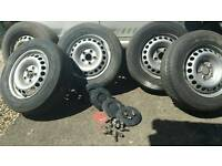 For sale 5 wheels VW T5 205x65Rx16C