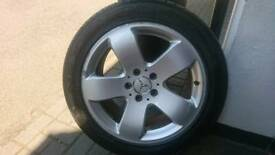 "Mercedes-Benz 17"" alloy wheels and tyres"