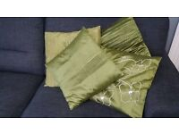 Cushion covers in green