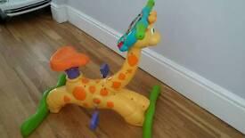 Kids cycle giraffe