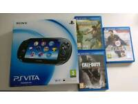 PS Vita OLED Version 32gb Memory Card + 3 Games - Mint Condition
