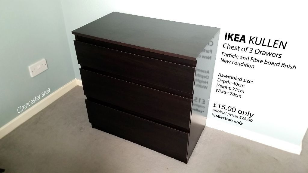 IKEA Kullen Chest of Drawers (new condition) Cirencester Area in Cirencester, Gloucestershire