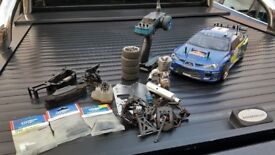 Thunder Tiger Tomahawk 1/10 Nitro RC Car + Spares