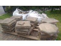Concrete slabs - half hexagonal shape