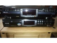 PHILLIPS CD RECORDER AND CD PLAYER, JVC TURNTABLE