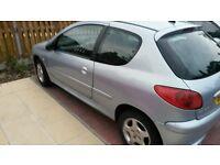 2006 06 peugeot 206 1.4cc verve 3-door silver alloys low milage ful mot bargain £795