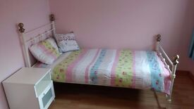 White Single Bed Frame- As New - Quality Frame - £169 new - £45 quick sale