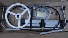 Ultraflex cross bar steering kit for inflatable boat or rib.