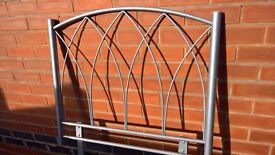metal single bed headboard. excellent condition.