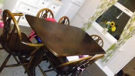 Vintage table and 6 chairs