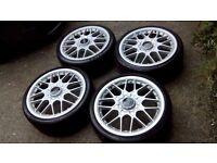 Audi TT,VW, Seat, Skoda, BBS RS2 18 Genuine split wheels, alloys with tyres 215 35 18