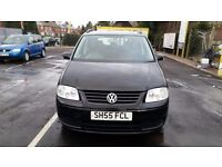 55REG VOLKSWAGEN TOURAN 1.9 TDI DIESEL 7 SEATER BLACK 6 SPEED MANUAL LOW MILEAGE