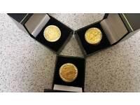 3 × full sovereign Gold rings