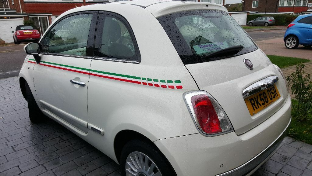 White Fiat 500 Italian Stripes With Extras In Windsor