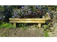 New 16 log boarder edging garden