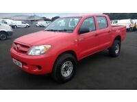 toyota hilux 4x4 2.5 turbo diesel 2007 07 plate double cab