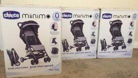 CHICCO MINI.MO Pushchair Stroller Pram Buggy Brand New Black or Red