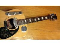 one off MIJ Hokada, electro acoustic build guitar .
