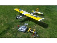 Radio Controlled I. C. model plane.. complete ready to fly