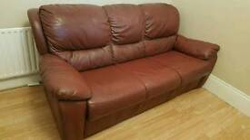 3+1+1 leather sofa suite