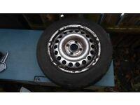 Vauxhall Corsa C (1994) Steel Wheel and Tyre