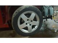 Peugeot alloys and tyres 207 307 308 206 berlingo partner