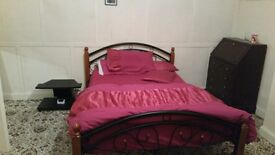 Large, spacious double room ,full furnished available in a clean house with a small family £370 pcm
