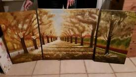 Large 3 piece canvas