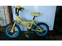 Minion kids bike