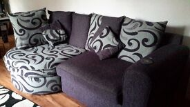 lovely grey and purple settee