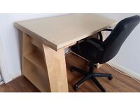 Ikea Trestle Table Desk and Chair
