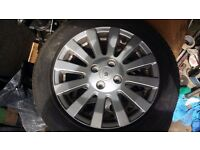 R15 4x100 wheels with very good tyres