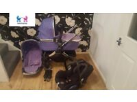 icandy peach 2 travel system in parma violet