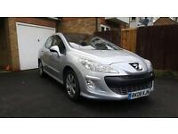 Peugeot 308 1.6 THP, 12 months MOT, 94k miles, AC, Panoramic roof, Great condition