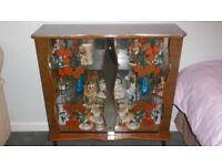 Retro 1960s/70s Laminate and Glass Cabinet