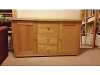 Solid oak side board, beautifully maintained, non smoking home