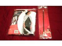 Cruela de Vil costume, wig, cigerette holder. Fancy dress/World book day