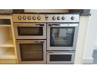 As good as new FLAVEL MLN10CRS Electric Ceramic Range Cooker - Silver & Chrome