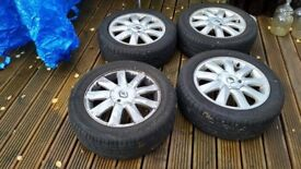 Megane alloys x 4 and tyres