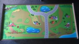 Wooden train track table