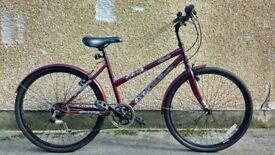 "Ladies 17"" town bike in Burgundy like new street cruiser"