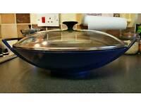Le Creuset cast iron wok