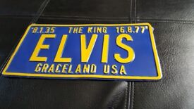 Elvis Number Plate , great collectable for any elvis fan