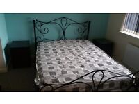King size bed and matress for sale