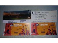 T20 Blast Finals Day Tickets x 2 - Row A (plus a car park ticket)