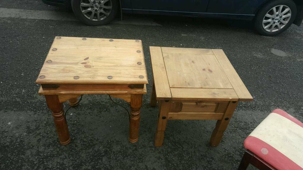 Solid mexican pine tables £25 each