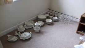 Eternal Beau Dinner service for sale including set of matching wine glasses