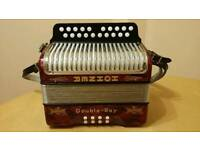 Hohner 2 row accordion (black dot)