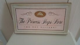 Hessian backed canvas print 'The Princess Sleeps Here'