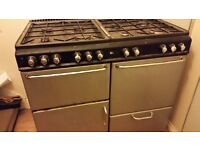 Gas range cooker 100cm 8 hobs dual oven with grill